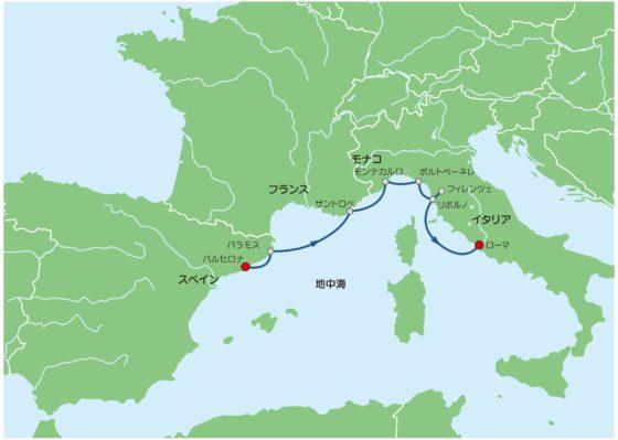 南仏のバカンスmap