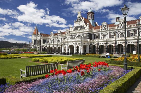 Historic Railway Station, Dunedin, South Island, New Zealand
